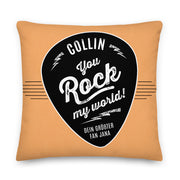 Personalisiertes Kissen - You rock my world!