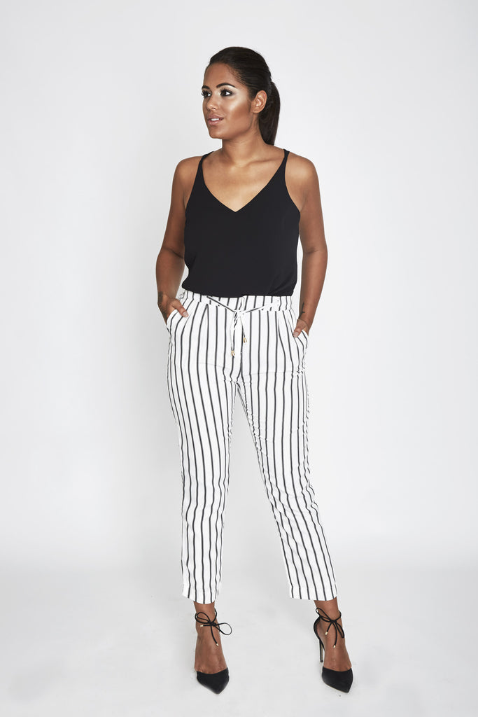 Malin Stripe Cigarette Trousers