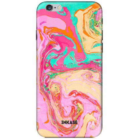 Pink Ink Marble iPhone Case