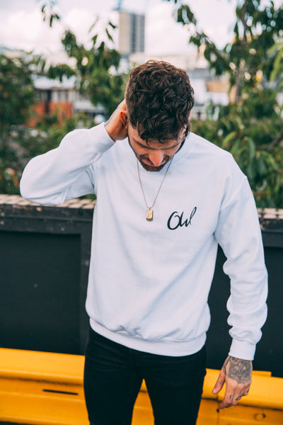 White OW Sweater