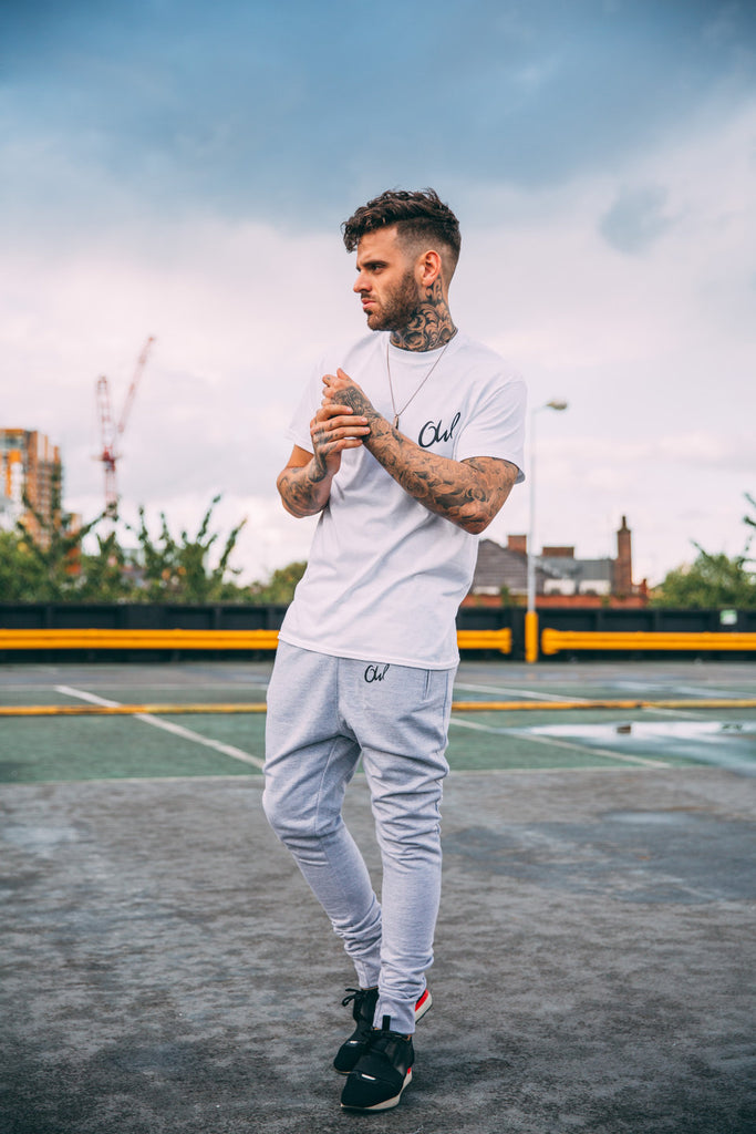 Grey OW Joggers
