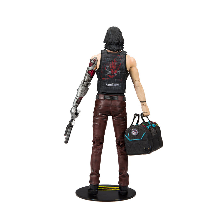 Cyberpunk 2077 McFarlane Johnny Silverhand Duffle Bag Variant Action Figure Back
