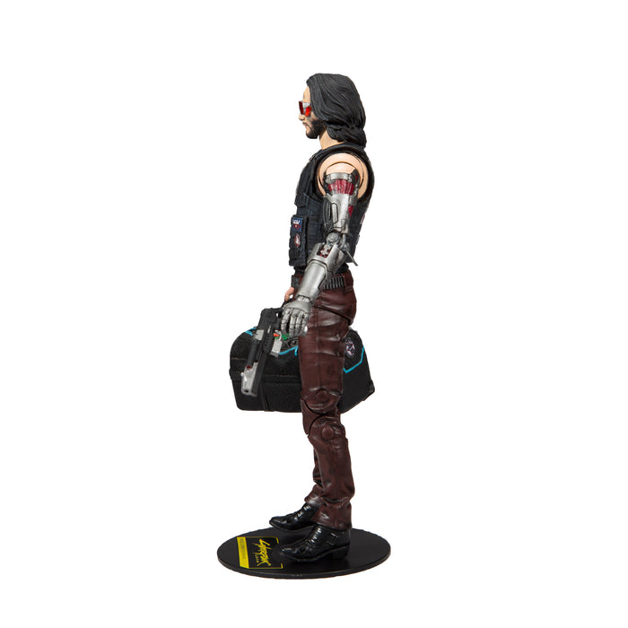 Cyberpunk 2077 McFarlane Johnny Silverhand Duffle Bag Variant Action Figure Left Side