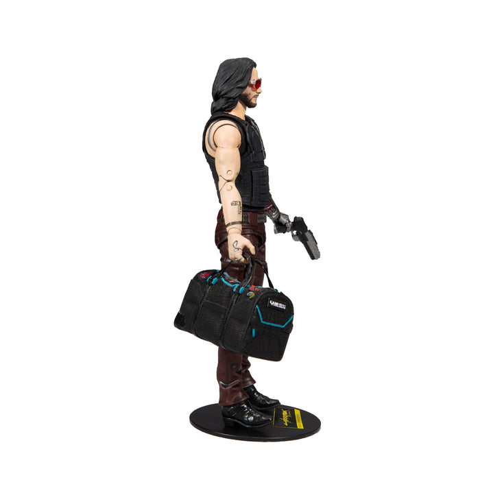 Cyberpunk 2077 McFarlane Johnny Silverhand Duffle Bag Variant Action Figure Right Side