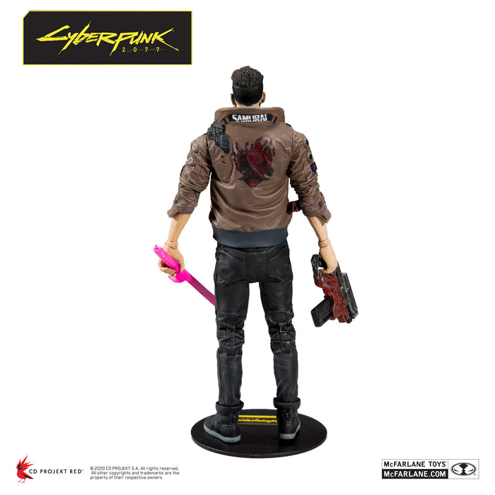 Cyberpunk 2077 McFarlane Male V Action Figure Back