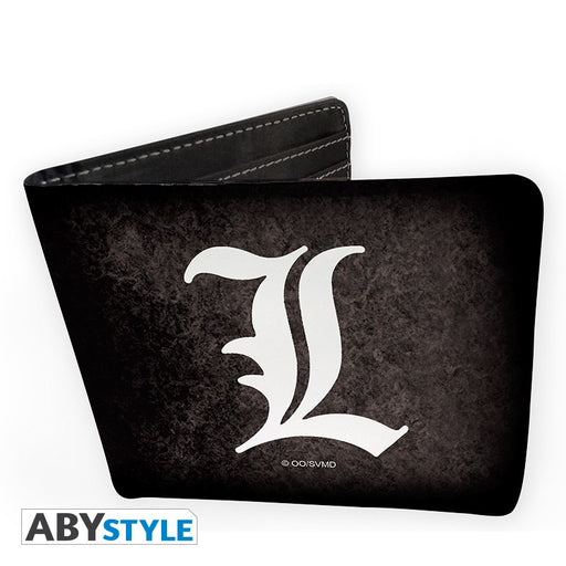 Death Note L Symbol Vinyl Wallet Front