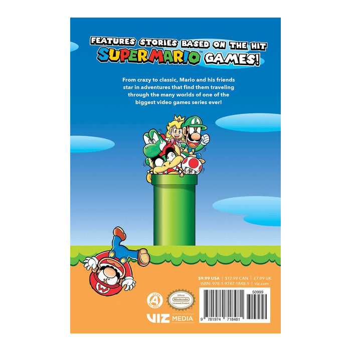 Super Mario Manga Mania Book Back Cover