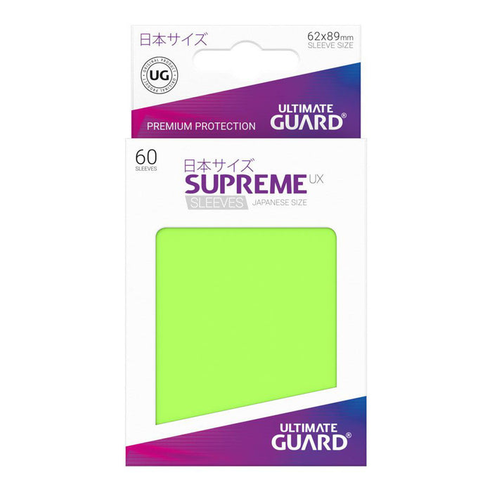 Ultimate Guard - Supreme UX Card Sleeves Japanese Size Light Green (60) yugioh