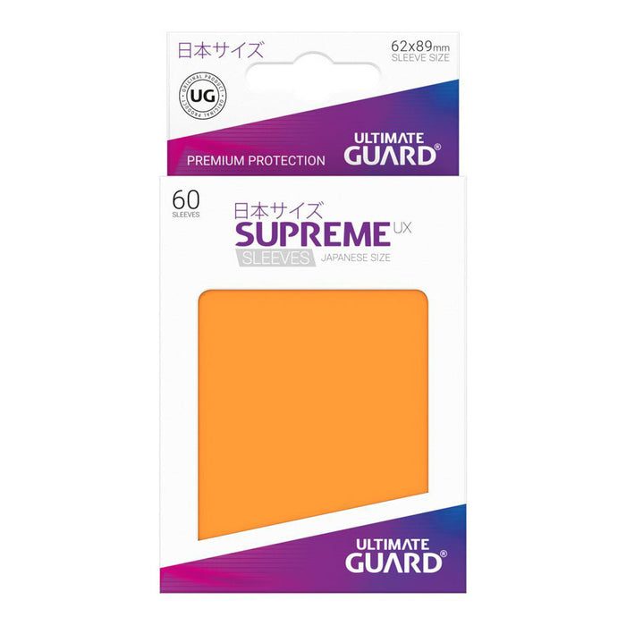 Ultimate Guard - Supreme UX Card Sleeves Japanese Size Orange (60)