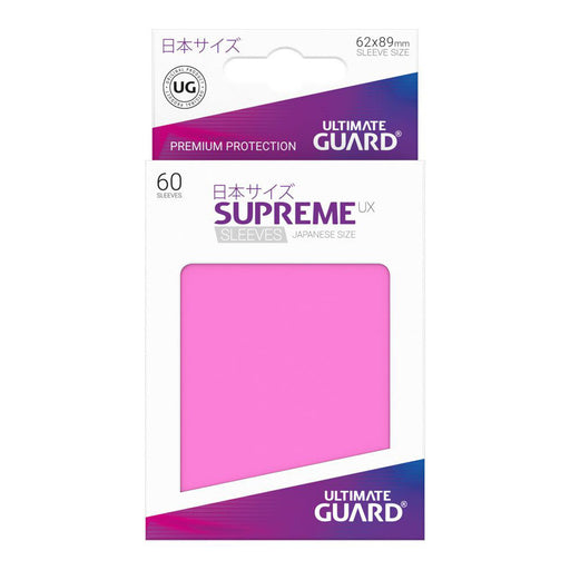 Ultimate Guard - Supreme UX Card Sleeves Japanese Size Pink (60) Yugioh