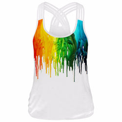 Colour paint crop top