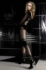Ballerina 051 Tights Nero (Black) / Visone