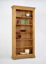 Normandy Oak 6ft Large Bookcase - CoCo Nells