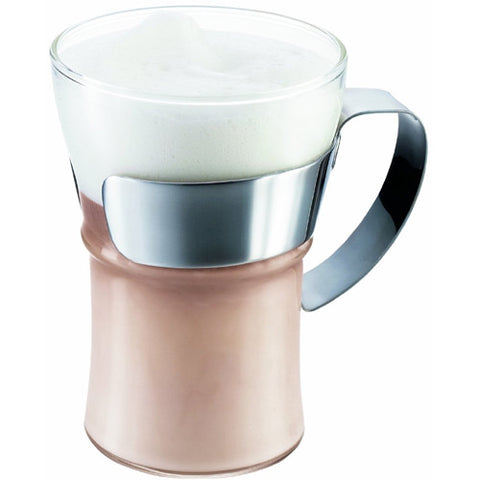 Bodum Assam Coffee Glass with Steel Handle - CoCo Nells
