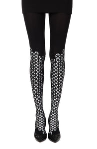 Zohara Beat Goes On? Black Print Tights - CoCo Nells