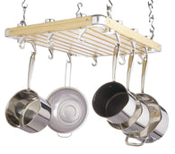 Master Class Wooden Ceiling-Mounted Hanging Pan Rack