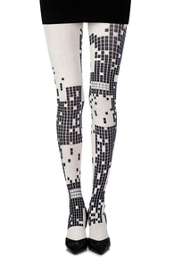 Zohara Game Boy? Cream Print Tights - CoCo Nells