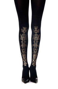 "Zohara ""Pretty Flower Girl"" Print Tights - CoCo Nells"