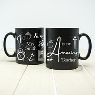 A is for Amazing Teacher Matte Coloured Mug
