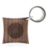 Arlington Monogram Walnut Keyring