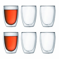 Bodum Pavina Glass Double Wall 0.35L Set of 6 - CoCo Nells