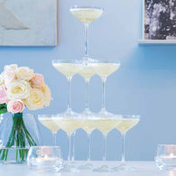 LSA Cocktail Champagne Tower Set of 10 Glasses Set of 10