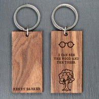 Personalised Can See the Wood for the Trees Keyring