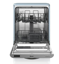 Swan SDW7040BLN Retro Dishwasher in Blue