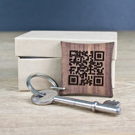 Secret Message QR Code Keyring