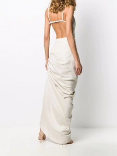 Jacquemus Asymmetric ruched dress