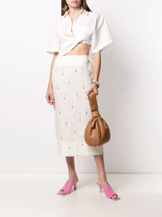 Jacquemus La Jupe Blé embroidered skirt