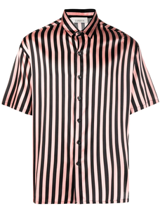 Laneus candy stripe silk shirt