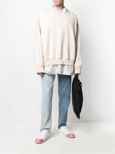 Maison Margiela layered shirt sweatshirt