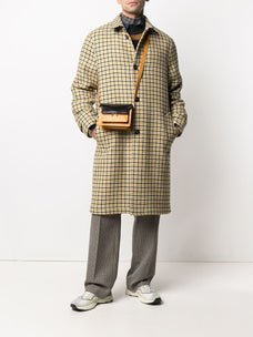 Marni check-pattern single-breasted wool coat