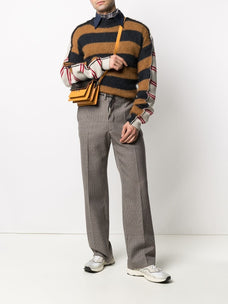 Marni panelled design knitted jumper