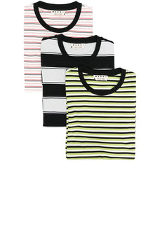 Marni three-pack striped T-shirts