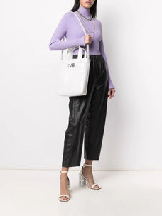 Mm6 logo print tote bag