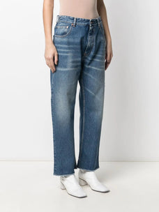 Mm6 mid-rise wide-leg jeans