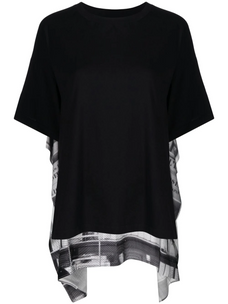 Mm6 printed layered T-shirt