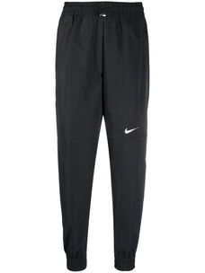 Nike high-waisted logo-print track pants