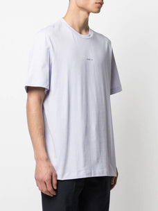 Oamc silk patch cotton T-shirt