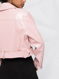 Stand Studio cropped faux leather biker jacket