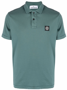 Stone Island chest logo-patch polo shirt