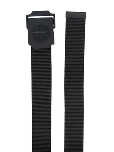 Stone Island compass logo buckle belt
