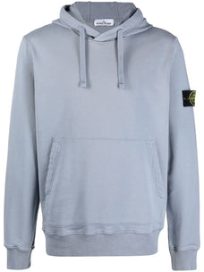 Stone Island drawstring cotton hooded sweatshirt