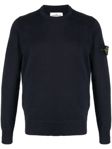 Stone Island logo patch cotton jumper