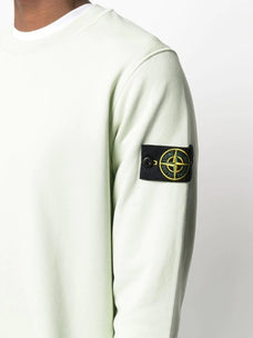 Stone Island logo patch cotton sweatshirt