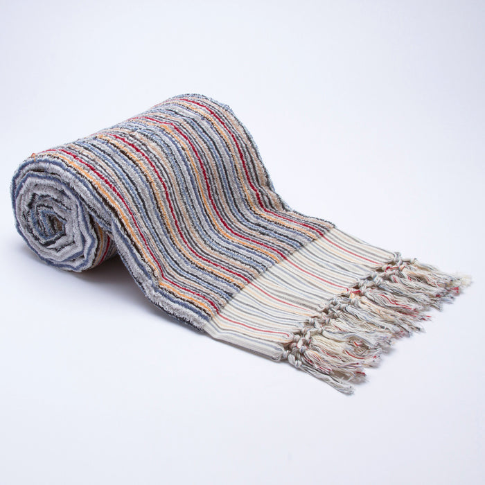 Colorful Pencil Stripe Turkish Beach Towel