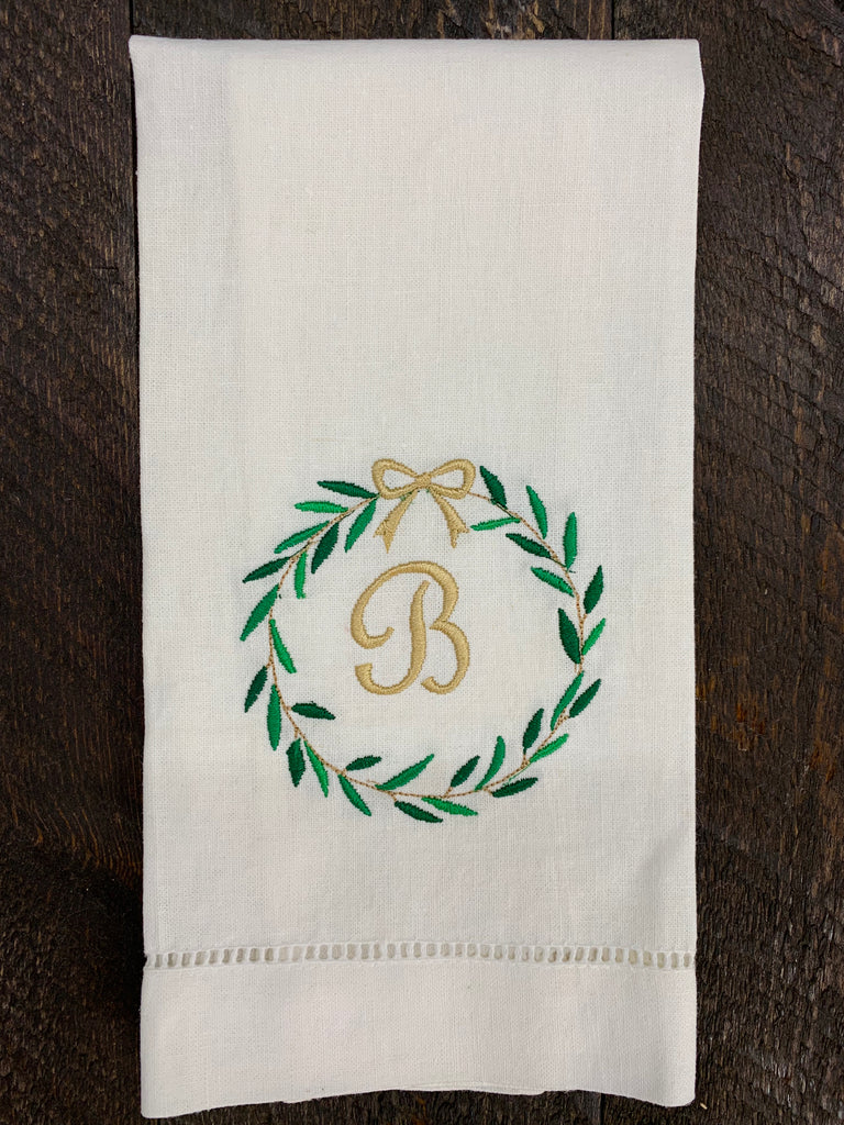Linen Christmas Hand Towels #2