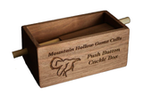 Walnut Push Button Cackle Box (Deluxe Model)